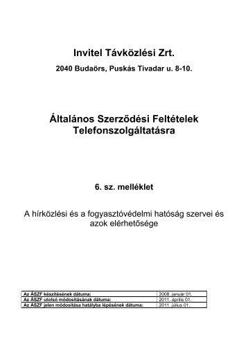 6. sz. melléklet - Invitel