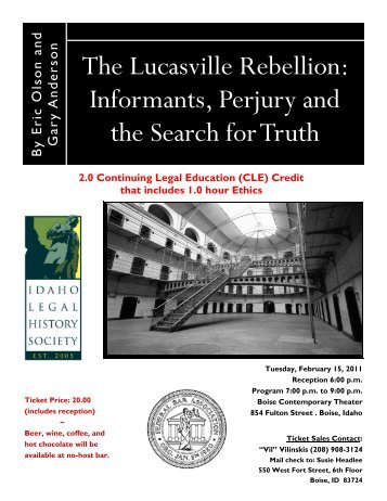 The Lucasville Rebellion - District of Idaho