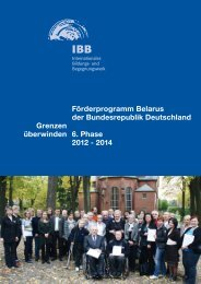 Förderprogramm Belarus der Bundesrepublik Deutschland 6. Phase ...