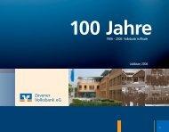 100 Jahre Volksbank in Rhade - zvb.de