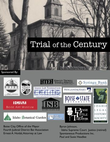 Trial of the century.indd - District of Idaho