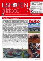 Ausgabe 9/2013 - Gewerbeverein Ilshofen eV / Startseite