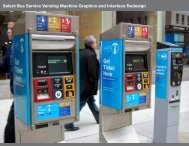 Select Bus Service Vending Machine Graphics and Interface Redesign