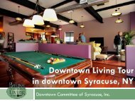 Downtown Living Tour in downtown Syracuse, NY