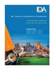 exhibitor roster - International Downtown Association
