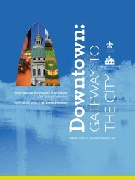 Conference Brochure - International Downtown Association