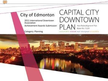 City of Edmonton Capital City Downtown Plan - International ...