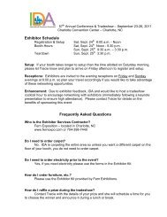 Exhibitor Schedule Frequently Asked Questions