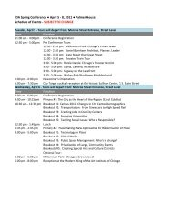 8, 2011 Palmer House Schedule of Events - SUBJECT TO CHANGE