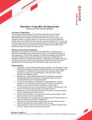 Downtown Yonge BIA Job Opportunity - International Downtown ...