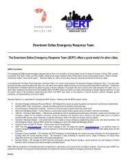 Downtown Dallas Emergency Response Team - International ...