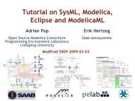 Tutorial on SysML, Modelica, Eclipse and ModelicaML