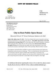 City to Host Public Open House - Idaho Falls Chamber of Commerce