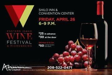 Idaho Falls Arts Council Wine Festival 4.26.13