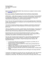 INL News Release FOR IMMEDIATE RELEASE Oct 7, 2010 NOTE ...