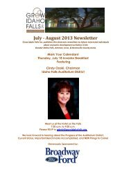 July - August 2013 Newsletter - Idaho Falls Chamber of Commerce