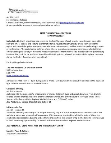 April 20, 2012 For Immediate Release Contact: Jill Barnes ...