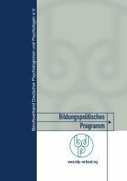 Bildungspolitisches Programm - BDP