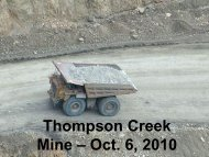 new photos of the Thompson Creek molybdenum mine