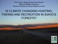 climate impacts on hunting and fishing in the region. - Idaho Rivers ...