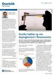 Nyhedsbrev nr. 7, august 2006 - Idrættens Analyseinstitut