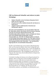 CDC im Motorrad: Schneller und sicherer in jeder Schräglage - ZF ...