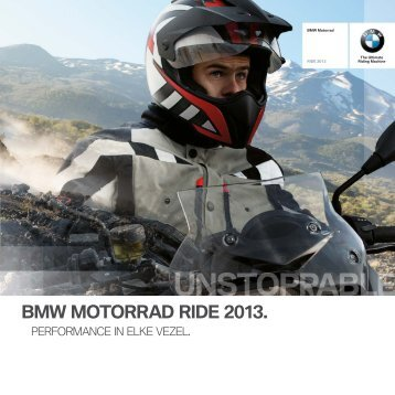 BMW Motorrad Ride 2013 Performance in elke vezel