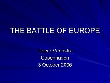 THE BATTLE OF EUROPE