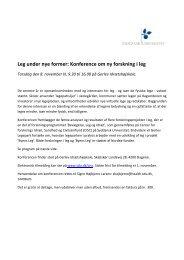 Leg under nye former: Konference om ny forskning i leg