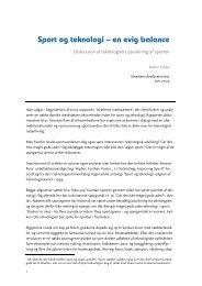 Sport og teknologi - en evig balance - Idrættens Analyseinstitut