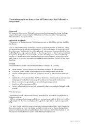 Forståelsespapir om integration af Videncenter for Folkeoplysning i ...