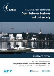 Sport between business and civil society