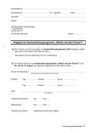 Anmeldebogen für Veranstaltungen - Idar-Oberstein