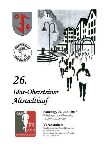 26. Idar-Obersteiner Obersteiner Obersteiner Altstadtlauf Altstadtlauf ...