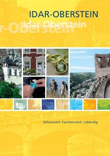 Broschüre: Idar-Oberstein - Sehenswert. Facettenreich. Lebendig.