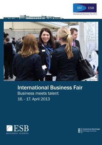 Messebroschüre: IBF 2013 - International Business Fair