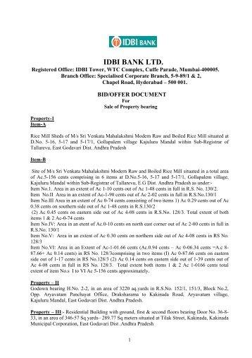 Annex-I Form ECB - IDBI Bank