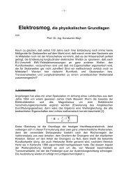 Elektrosmog, die physikalischen Grundlagen - Rafoeg.de