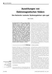 Auswirkungen von Elektromagnetischen Feldern - milieuziektes