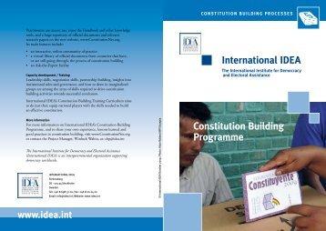 international ideA Constitution Building Programme