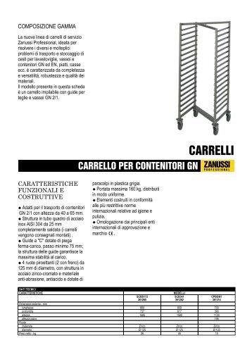 CARRELLO PER CONTENITORI GN - Electrolux