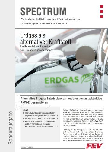 Erdgas als alternativer Kraftstoff - FEV.com