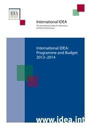 International IDEA: Programme and Budget 2012–2014 ...