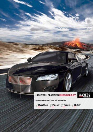 HigHtecH-Kunststoffe unter der MotorHaube - LANXESS
