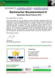 Newsletter Sächsischer Baustammtisch Februar 2013
