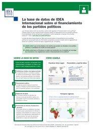 La base de datos de IDEA Internacional sobre ... - International IDEA