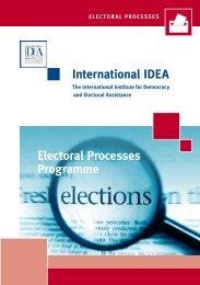 International IDEA Electoral Processes Programme