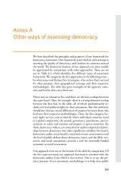 Annex A Other ways of assessing democracy - International IDEA