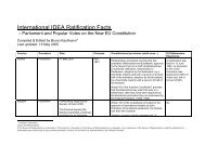 Ratification Facts The details of the ratification ... - International IDEA