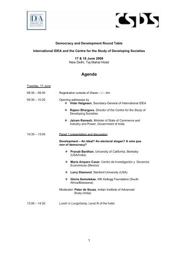 Agenda - International IDEA